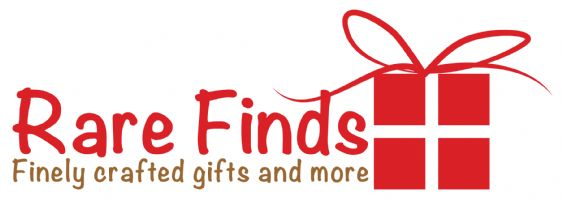 rare finds gift shop finely crafted gifts and more logo